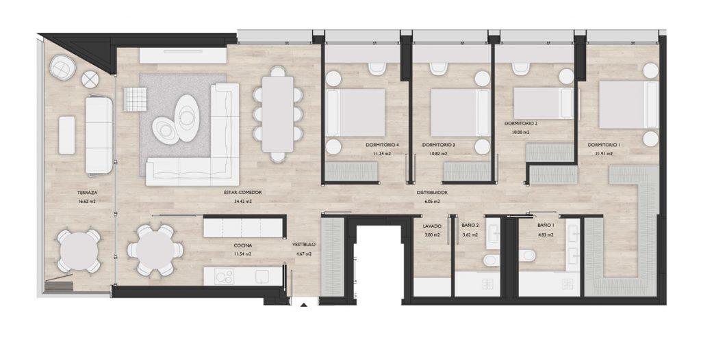 Construcciones Andia - Salesianos-PARCELA 6 PLANO-1-2-6-7-A
