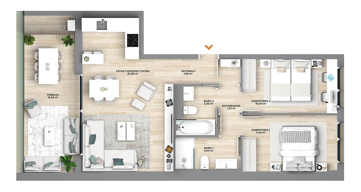 Praga Residencial Construcciones Andía - BAJA-D2-D7