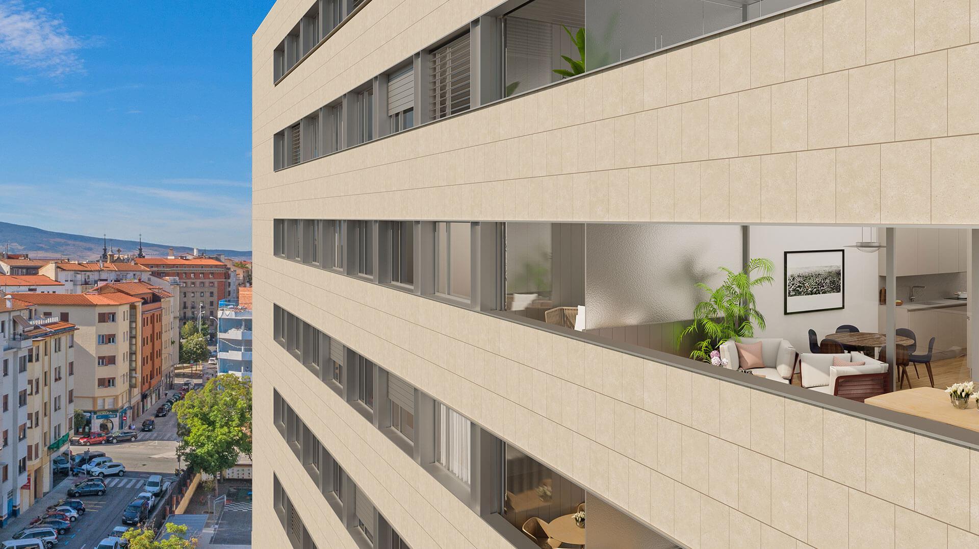 Viviendas Parque Media Luna Pamplona - Construcciones Andía