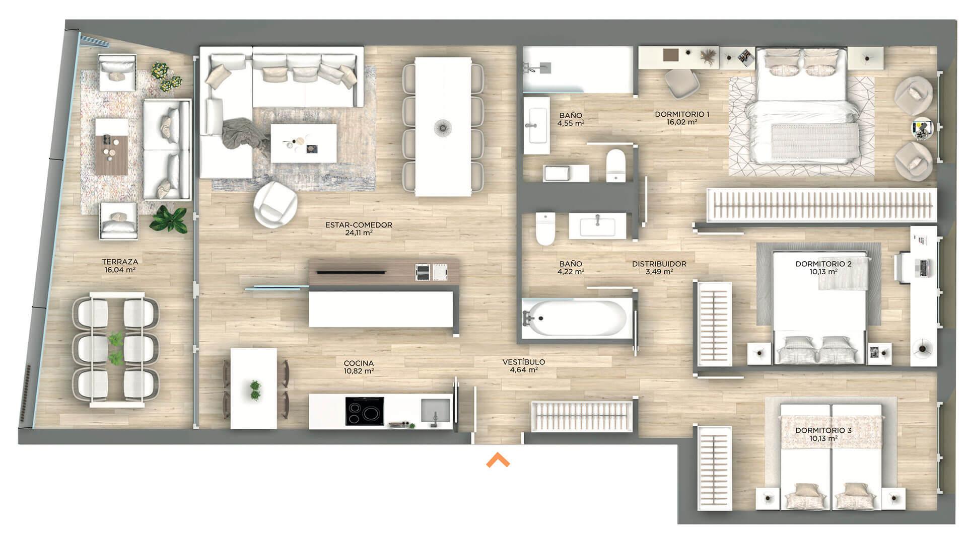 Plano Parque Ripagaina - Construcciones Andía