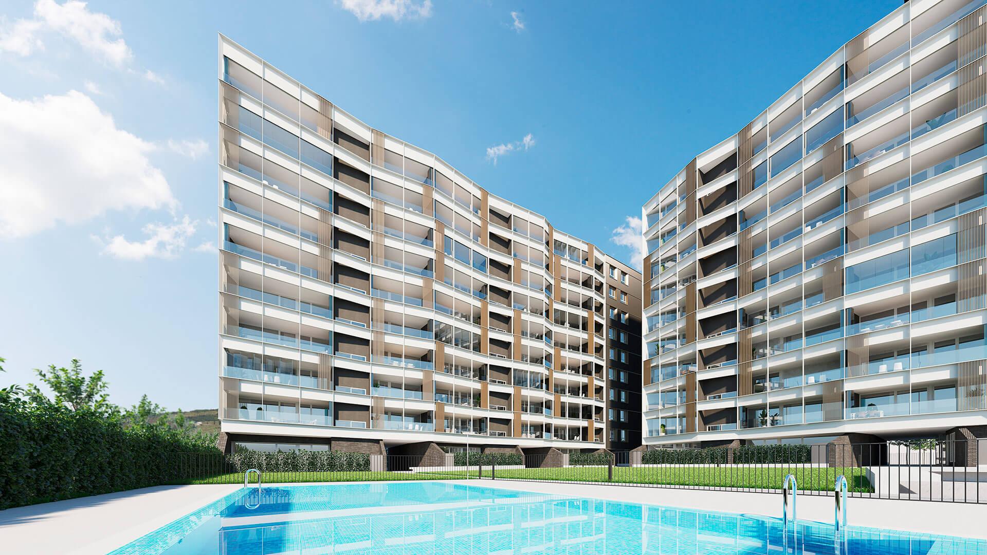 Plano Parque Ripagaina - Construcciones Andía - Exteriores con piscina